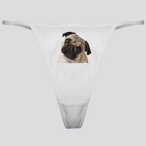 Pug Oil Painting Face Classic Thong