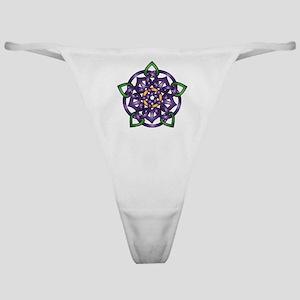 Purple Celtic Rose Classic Thong