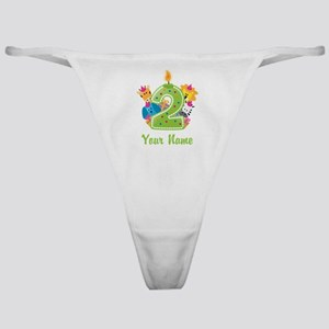 CUSTOM 2 Years Old Green Classic Thong