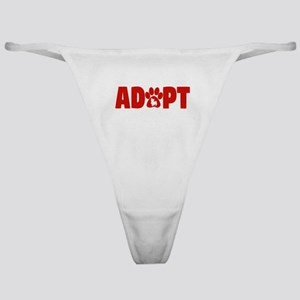 Cute Pets Paw Cat Dog Adopt Red Classic Thong
