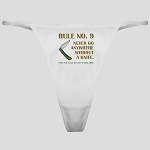 RULE NO. 9 Classic Thong