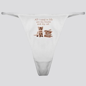 Cats and books Classic Thong