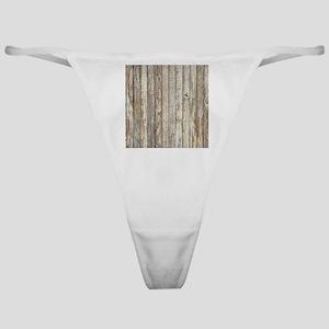 shabby chic white barn wood Classic Thong