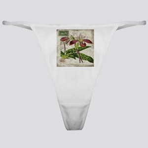 vintage orchid french botanical Classic Thong
