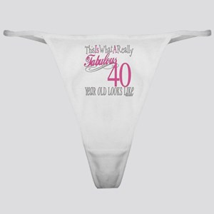 40th Birthday Gifts Classic Thong
