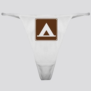 Camping Tent Sign Classic Thong