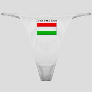 Custom Hungary Flag Classic Thong
