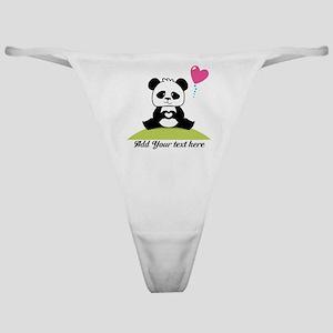 Panda's hands showing love Classic Thong