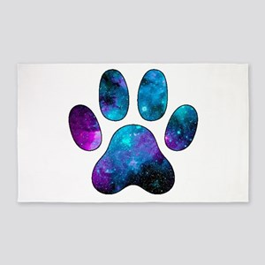 Dog Paw Prints Small Area Rugs Cafepress