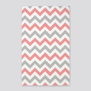 Pink And Gray Chevron Area Rugs Cafepress