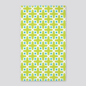 Turquoise And Lime Area Rugs Cafepress