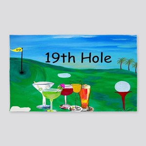 19th Hole Golf Bar Rug, 3'x 5 3'x5' Area Rug