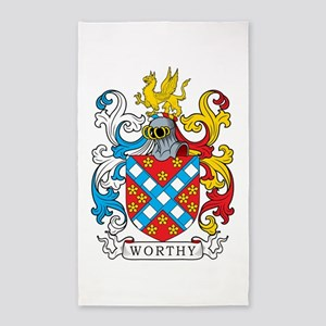 Worthy Family Crest 3'x5' Area Rug
