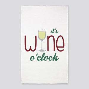 Wine OClock 3'x5' Area Rug
