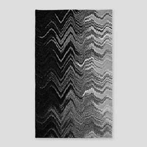 Abstract Wave Ombre Design Area Rug