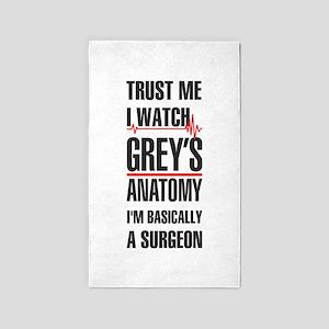 Greys Anatomy trust me black Area Rug