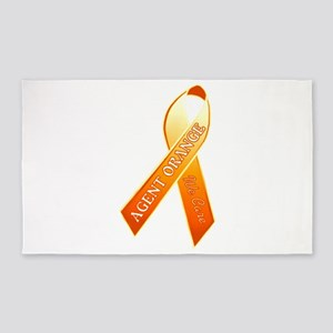 We Care Orange Ribbon Area Rug