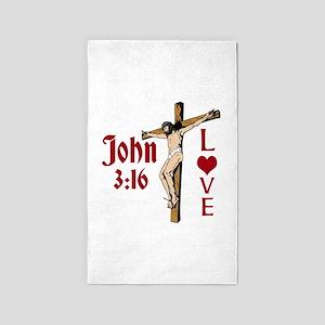 John 3:16 Love Area Rug