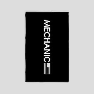 Mechanic: American Flag (White) Area Rug
