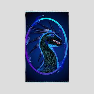 LargePosterHorned Black Dragon 3'x5' Area Rug
