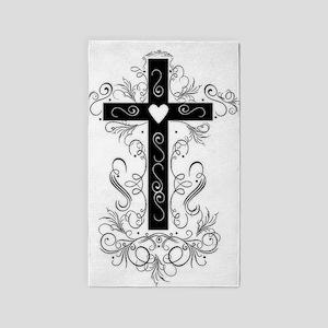 Flourish Cross 3'x5' Area Rug