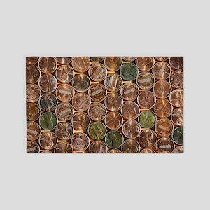 Pennies 3'x5' Area Rug