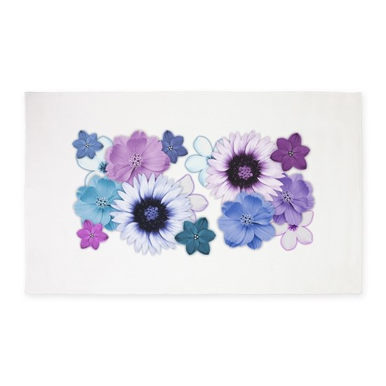 Pink Blue And Purple Flower Background 3 X5 Area By Original Photography Of Flowers Cafepress
