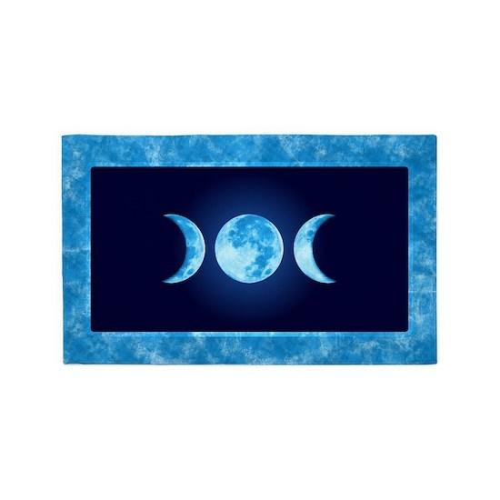 Three Phase Moon 3 X5 Area Rug By Mountainoak Cafepress