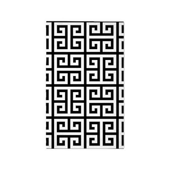 Cly Greek Key Black 3 X5 Area Rug