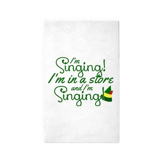 I'm Singing! Elf Movie Quote Area Rug