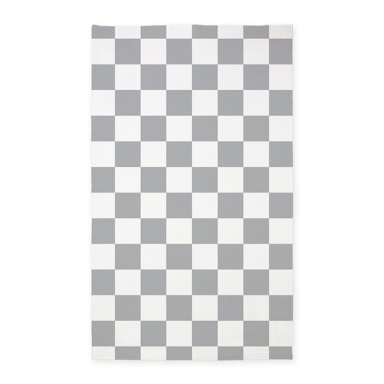Checked Black Grey Rug: Gray Checkered Area Rug By Synergy