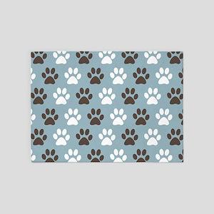 Bad Dog Paw Print Area Rugs Cafepress