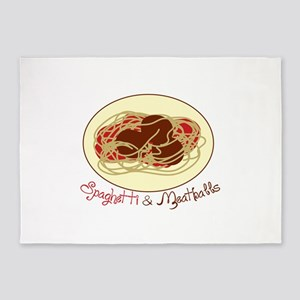 Spaghetti Meat Area Rugs Cafepress