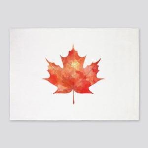 Maple Leaf Art 5'x7'Area Rug