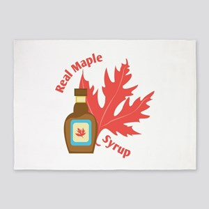 Real Maple Syrup 5'x7'Area Rug