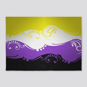 Non-Binary Ornamental Flag 5'x7'Area Rug