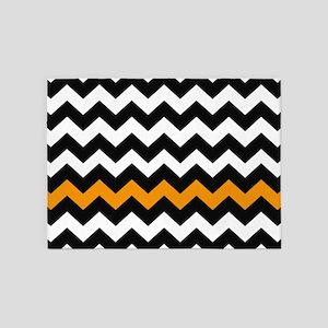 Orange And White Chevron Area Rugs Cafepress