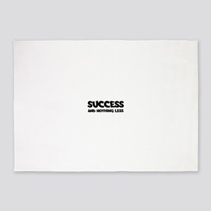 Success and nothing less Tanks 5'x7'Area Rug