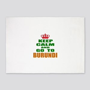 Keep Calm And Go To Burundi Country 5'x7'Area Rug