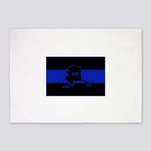 Thin Blue Line - Alaska 5'x7'Area Rug