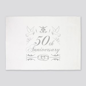 50th Wedding Anniversary 5'x7'Area Rug