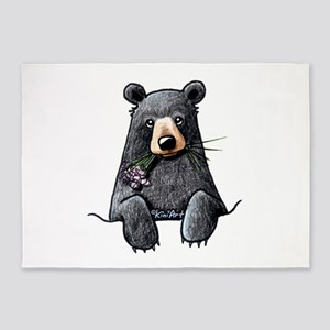 Pocket Black Bear 5 X7 Area Rug