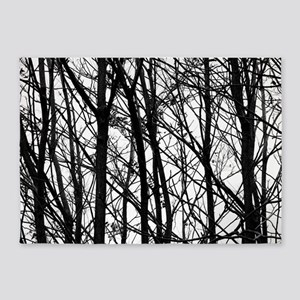 detailed look fbd93 51d3a Winter Trees 5 x7 Area Rug