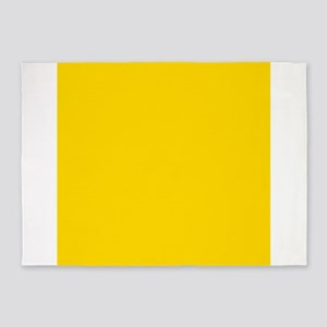 Mustard Yellow Solid Color 5 X7 Area Rug