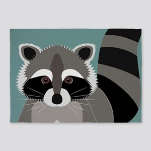 Raccoon Rascal 5'x7'Area Rug