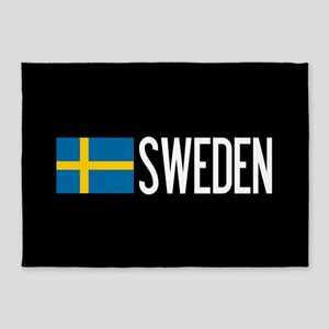 Sweden: Swedish Flag & Sweden 5'x7'Area Rug