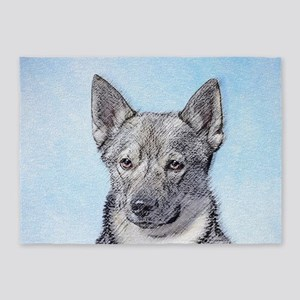 Swedish Vallhund 5'x7'Area Rug
