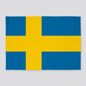 Flag: Sweden 5'x7'Area Rug