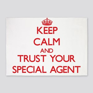 Keep Calm and trust your Special Agent 5'x7'Area R