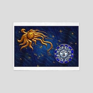 Harvest Moons Sun Moon 5 X7 Area Rug
